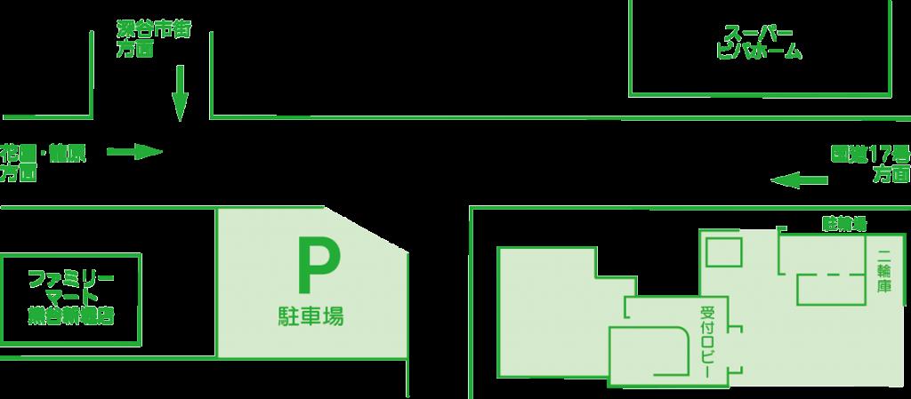 スーパービバホーム深谷店・ファミリーマート熊谷新堀店のそばです。
